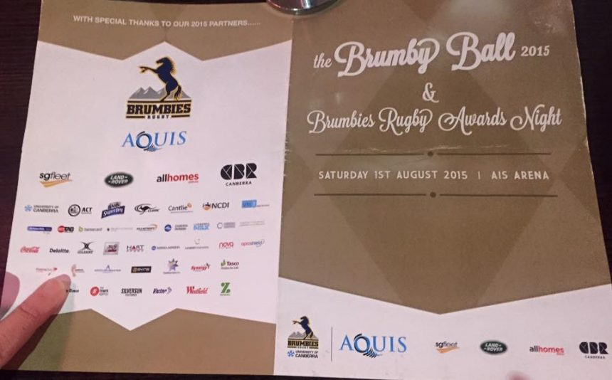 2015 ACT Brumbies Ball